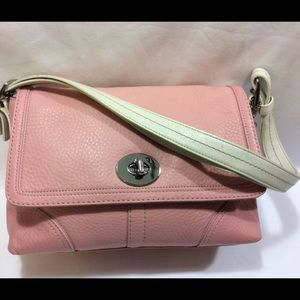 COACH F13085 HAMPTON PEBBLED LEATHER SHOULDER BAG